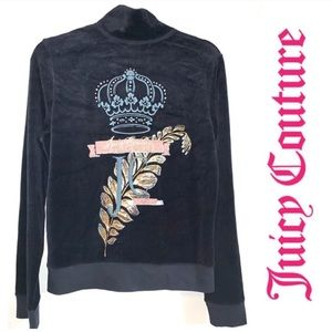 NWT Juicy Couture Black Track Jacket